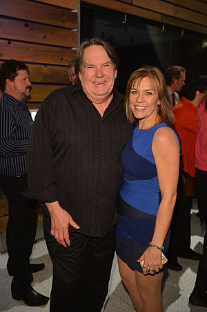 Don Carmody - Carmody with Karen Bruce at the 2013 Canadian Screen Awards Nominee Reception