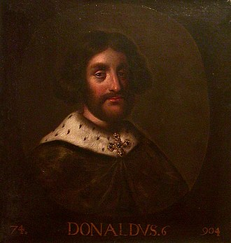 Donald II of Scotland - 17th-century depiction of Donald