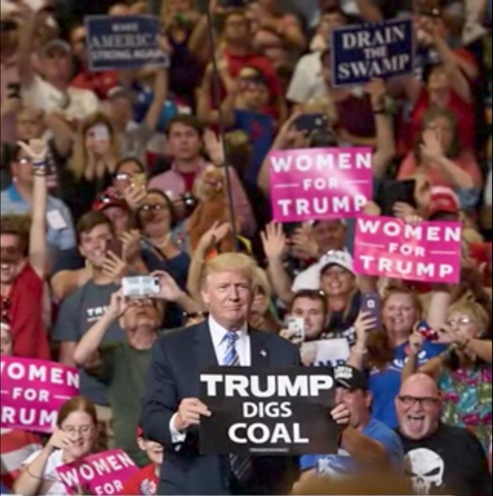 Donald Trump rally in Huntington (a)
