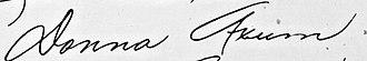 Donna Axum - Image: Donna Axum signature