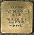 Dortmund Stolperstein Max Neugarten.jpg