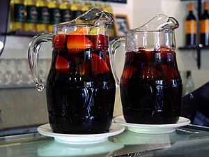 Two pitchers of sangria