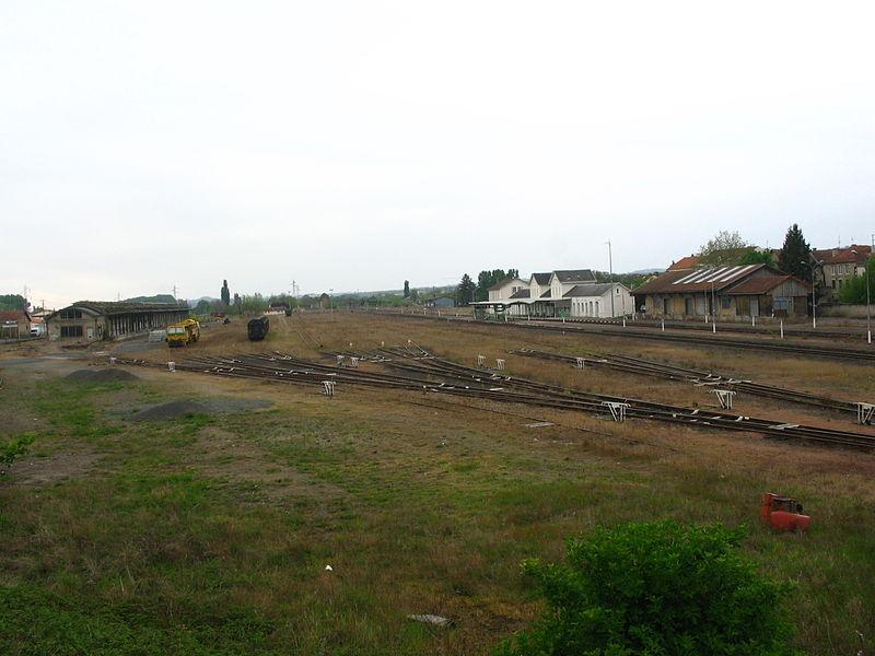 Arrière gare de Gannat (03).