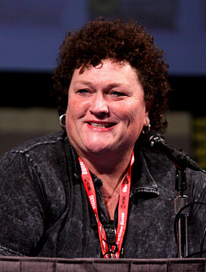 Beiste (Glee) - Dot-Marie Jones (pictured) plays football coach Shannon Beiste.