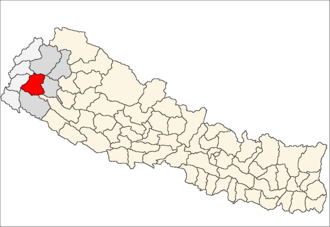 Doti District - Location of Doti