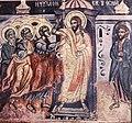 Doubting Thomas fresco in the nave of Rozhen Monastery Church.jpg