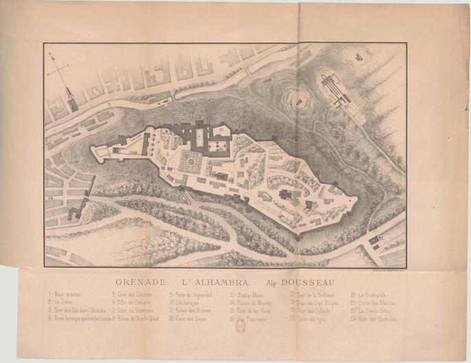 Dousseau - Grenade, 1872 - Carte et légende.png