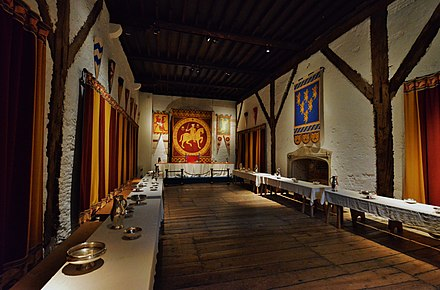 The renovated guest hall Dover Castle Great Tower The guest hall.JPG