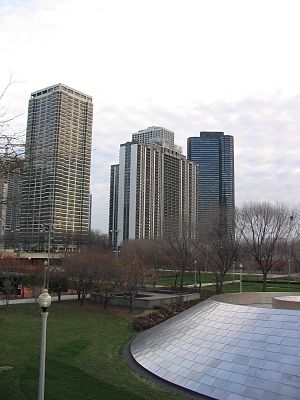 400 East Randolph - from BP Pedestrian Bridge