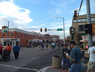 Morris, Illinois - Downtown Morris during the Grundy County Corn Festival