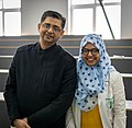 Dr. Deepak Marwah with a medical student of Kharkiv International Medical University.jpg
