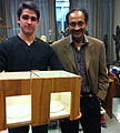Dr. Vilayanur S. Ramachandran and psychology student Matthew Marradi holding the original Mirror Box.jpg