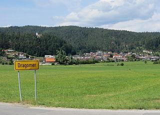 Dragomer Place in Inner Carniola, Slovenia