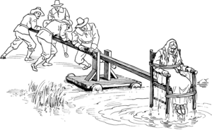 Cucking stool - Illustration from a Pearson Scott Foresman text book