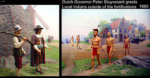 Dutch Governor Peter Stuyvesant in delegation with the Lenni Lenape. (This is depicted on the seal of Bergen County).