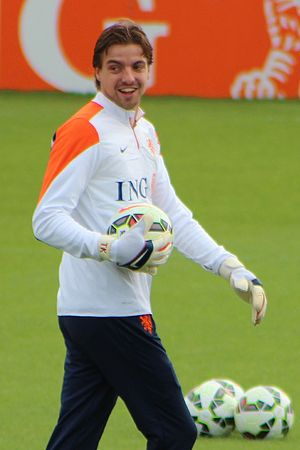 Tim Krul - Krul training with the Netherlands national team in 2014