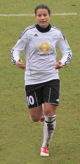 Dzsenifer Marozsán - Marozsán playing for Frankfurt in 2012.