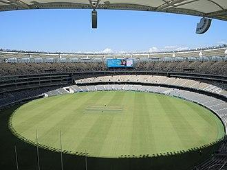 Perth Stadium - View eastward in January 2018