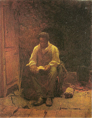 Eastman Johnson - The Lord is my Shepard - Oil...