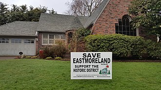 Eastmoreland Historic District - Image: Eastmoreland HD signage (2017) 3