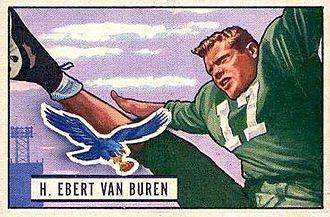 Ebert Van Buren - Van Buren on a 1951 Bowman football card