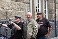 Eddy Kante, Heinz Hoenig mit Kalle Haverland - Pressekonferenz Hamburg Harley Days 2018 01.jpg
