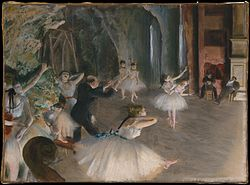 Edgar Degas: The Rehearsal of the Ballet Onstage