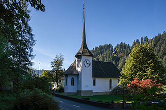 Eggiwil - Swiss Reformed Church in Eggiwil, originally built in 1630-32