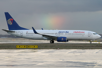 EgyptAir - An EgyptAir Boeing 737-800 in old livery at Frankfurt Airport in 2013