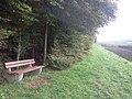 Eine Bank am Waldrand - panoramio.jpg
