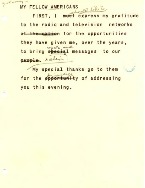File:Eisenhower Farewell Address reading copy.djvu
