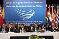 El Canciller Falconí acompaña al Presidente Correa en la Reunión Extraordinaria de Jefes de Estado de la UNASUR (3865372676).jpg