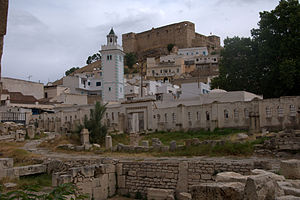 El Kef roman baths, mosque and casbah.jpg