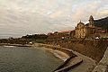 El Puerto de Oya, con la Iglesia y el Monasterio en lo alto (15807305827).jpg