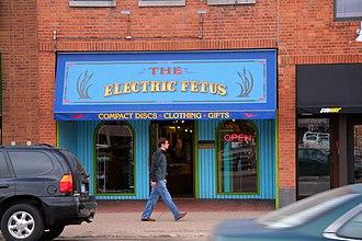 "Head shop - The ""Electric Fetus"" head shop in Saint Cloud, Minnesota."