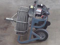 Electric motor driven drain auger