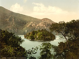 The Lady of the Lake (poem) - Ellen's Isle (An t-Eilean Molach) photographed in the 1890s