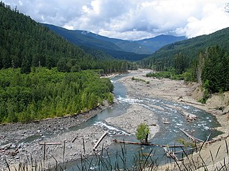 Grand Canyon of the Elwha - Image: Elwha River Humes Ranch Area 2
