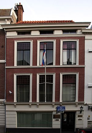 Foreign relations of Slovenia - Slovenian embassy in the Hague.