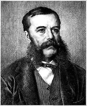 Emeryk Hutten-Czapski - Engraving by W.A. Bobrow, 1876