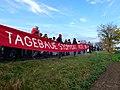 Ende Gelände November 2017 - Activists holding Redline banner.jpg