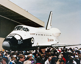 Space Shuttle Endeavour - Endeavour rollout ceremony in April 1991