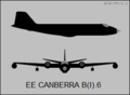 English Electric Canberra B(I).6 two-view silhouette.png