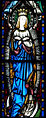 Enniscorthy St. Aidan's Cathedral Mortuary Chapel East Window 1 Virgin Mary Detail 2009 09 28.jpg