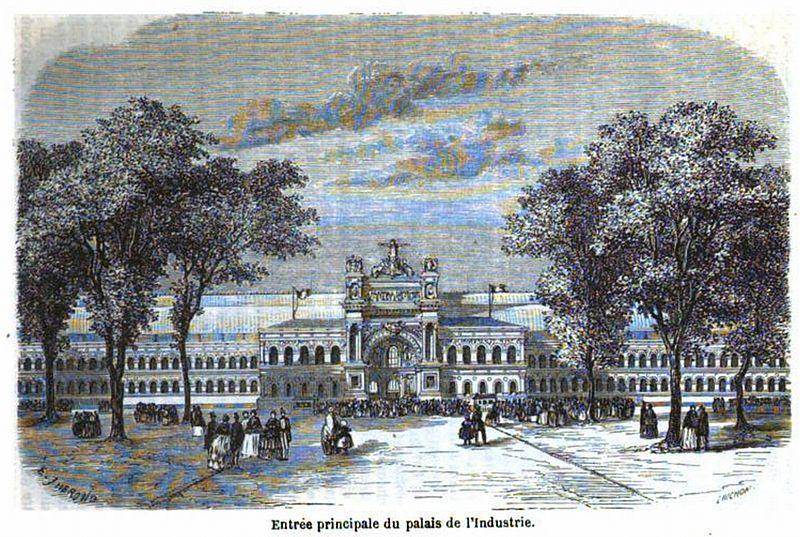 File:Entrée principale du palais de l'Industrie.jpg