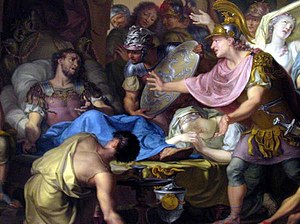 The death bed of Epaminondas [...] [detail].