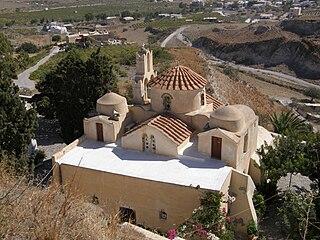 Panagia Episkopi church building in Episkopi Gonias, South Aegean, Greece