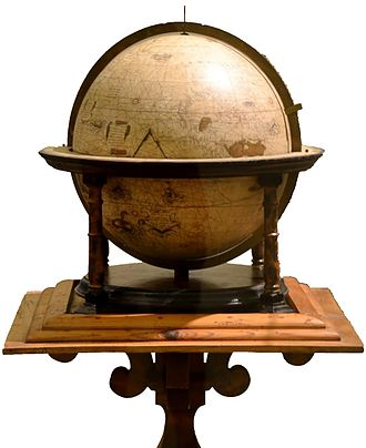 Urbania - Globe signed by Mercator and dated 1541; now in the 'Palazzo Ducale' museum. It is one of about 22 existing Mercator globes.