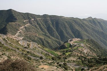 Eritrean mountain road Eritrean mountai road archietcture.jpg