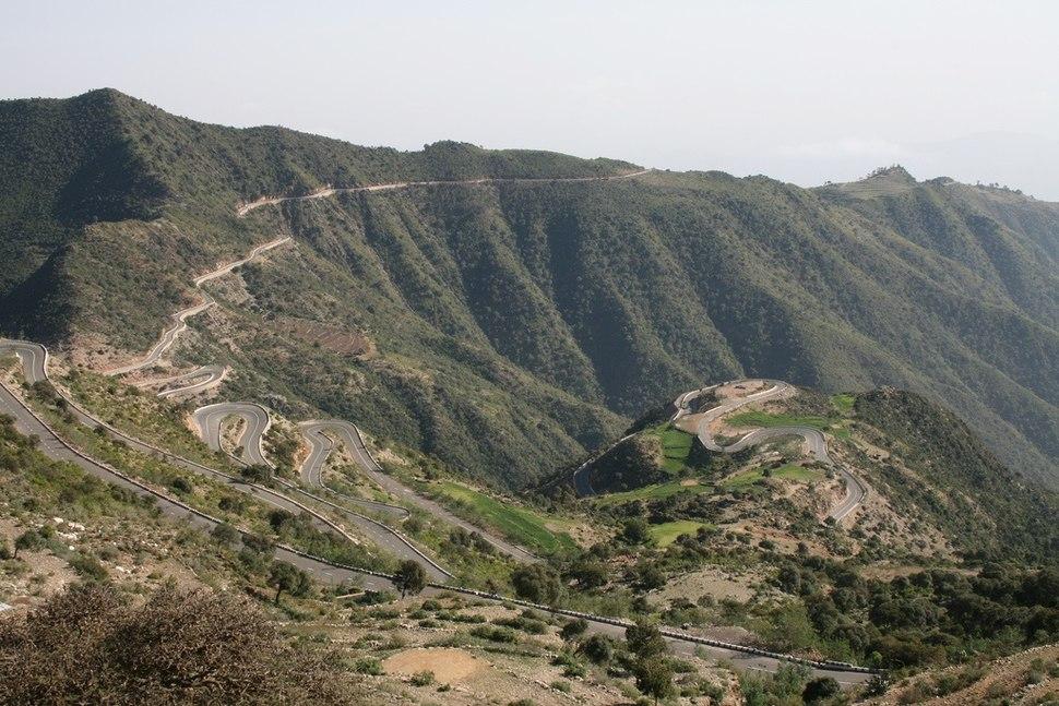 Eritrean mountai road archietcture
